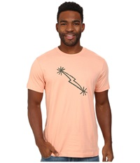 Black Diamond S S Midnight Lightning Tee Peach Men's T Shirt Orange