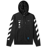 Off White Mariana De Silvea Painting Zip Hoody Black
