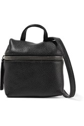 Kara Micro Textured Leather Shoulder Bag Black