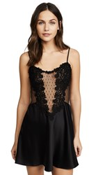 Flora Nikrooz Charmeuse Chemise With Lace Black