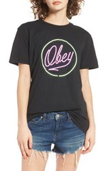 Obey Men's Neon Graphic Tee
