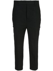 Rick Owens Tailored Cropped Trousers Black