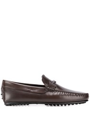 Tod's Logo Plaque Loafers 60