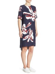 Cedric Charlier Orchid Hi Lo Dress White Multi