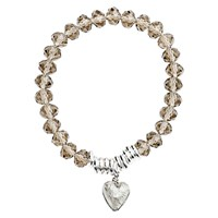 Martick Murano Heart And Crystal Bracelet Platinum