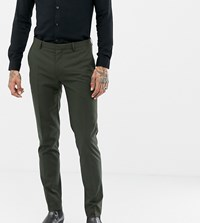 Heart And Dagger Skinny Suit Trouser Green