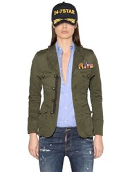 Dsquared Cotton Canvas Military Jacket