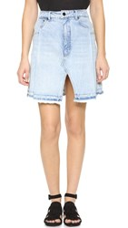 Denim X Alexander Wang Pleated Miniskirt Bleach