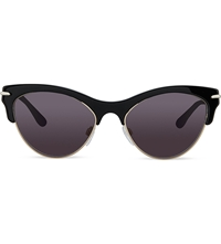 Roland Mouret Gloria Cat Eye Sunglasses Black Acetate