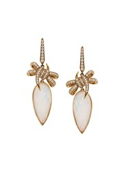 Stephen Webster Embellished Bow Earrings Yellow Gold