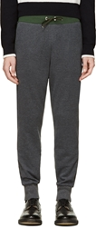 Moncler Gamme Bleu Charcoal And Green Classic Lounge Pants