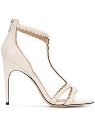 Sergio Rossi Pear Embellished Heels Nude And Neutrals 543f617c04b