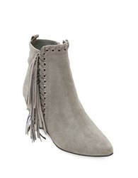 Matisse Sissy Suede Fringed Wedge Ankle Boots Grey