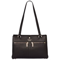 Modalu Pippa Leather Small Shoulder Bag Black