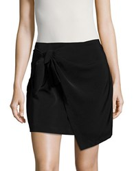 Design Lab Lord And Taylor Knit Mock Wrap Skirt Black