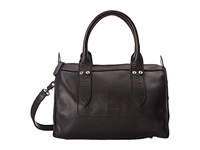 Frye Amy Zip Satchel Black Oiled Vintage Leather Satchel Handbags