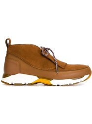 Carven 'Neo Derby' Sneakers Brown