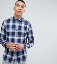 Selected Homme Slim Fit Check Shirt Maritime Blue Check