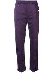 Fila Front Popper Track Pants Pink And Purple