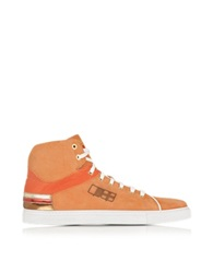 D'acquasparta D Plus B Orange High Top Suede Sneaker