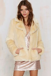 Nasty Gal Jakke Charlie Faux Fur Coat