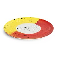 Bliss Home Fabbro Swish Dinner Plate Red And Yellow