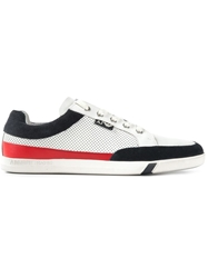 Armani Jeans Perforated Panel Sneakers