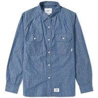 Wtaps Cell Chambray Shirt Blue