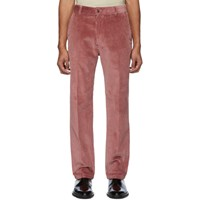 Ami Alexandre Mattiussi Red Straight Fit Trousers