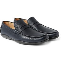 Harry's Of London Harrys Basel 4 Grained Leather Penny Loafers Navy