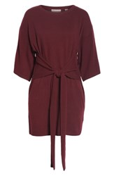 Ted Baker London Tie Front Knit Tunic Dark Red