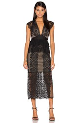Three Floor Lace Affair Dress Black