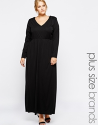 Carmakoma Maxi Dress With Sequin Shoulder Detail Black