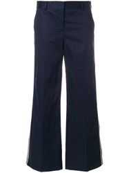 Paul Smith Ps By Cropped Side Stripe Trousers Blue