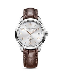 Baume And Mercier Clifton Watch 41Mm Silver Brown