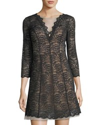 Bebe Lace Fit And Flare Dress Black