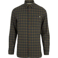 Jack And Jones River Island Dark Green Vintage Check Shirt