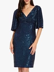 Adrianna Papell Sequin Midi Dress Twilight