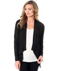 A Pea In The Pod Maternity Open Front Cardigan Black