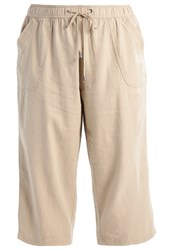 Evans Trousers Taupe Beige Off White