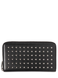 Saint Laurent Long Studded Leather Zip Round Wallet Black