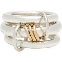 Spinelli Kilcollin Men's Sterling Silver And Rose Lynx Ring Gold