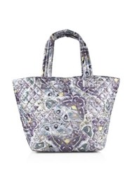 M Z Wallace Metro Luna Quilted Nylon Tote Multi