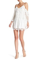 Few Moda Lace Cold Shoulder Romper White