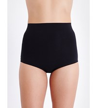 Wolford Control High Rise Stretch Cotton Briefs Black