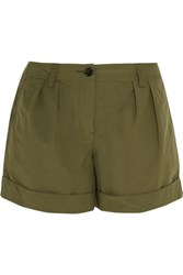 Burberry Cotton Blend Shorts Army Green