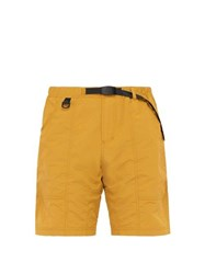 Gramicci Belted Technical Shorts Yellow