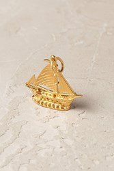 Mirabelle Sailboat Charm Gold
