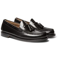 G.H. Bass Weejuns Larkin Leather Tasselled Loafers Black