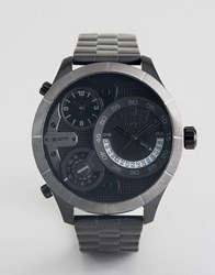 Police Bushmaster Watch With Black Multi Functional Dial Black